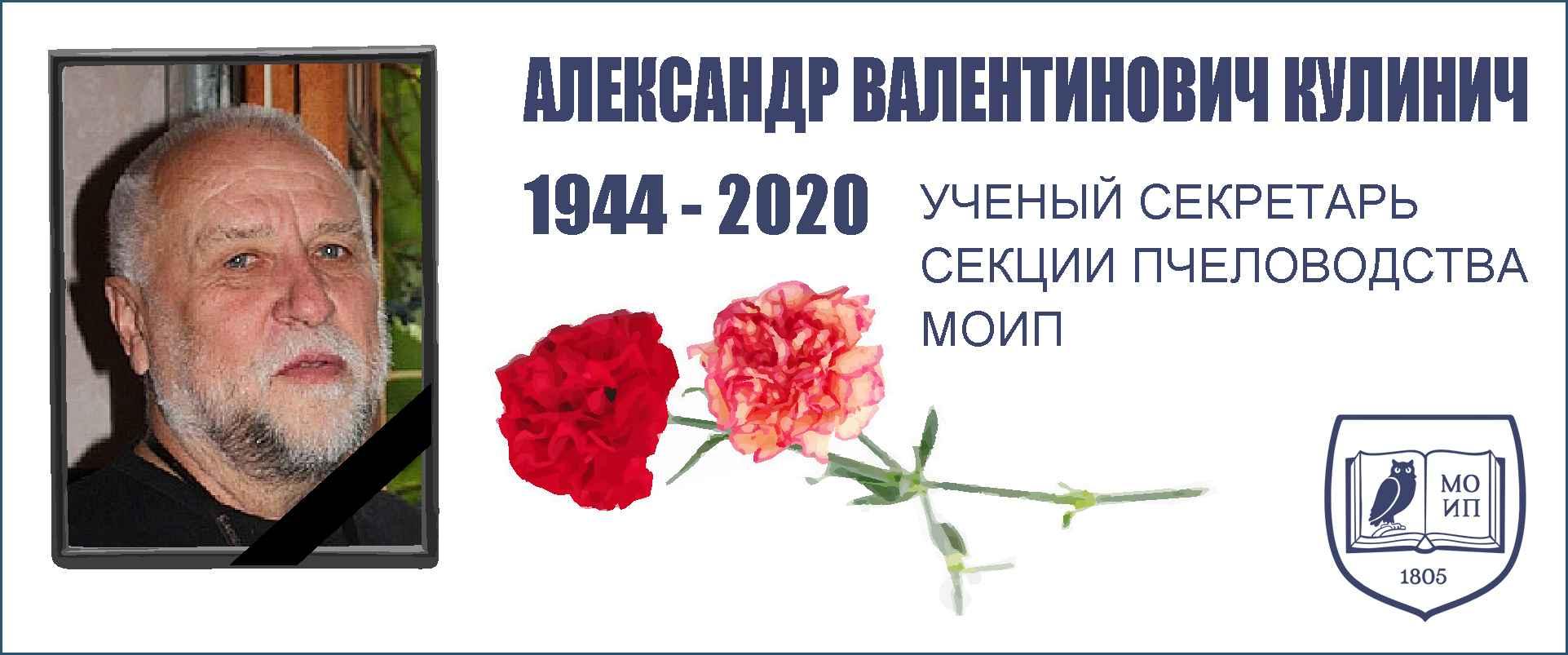 Александр Валентинович КУЛИНИЧ (1944 - 2020).